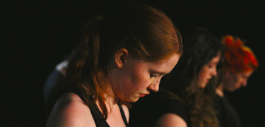 A girl in a performance