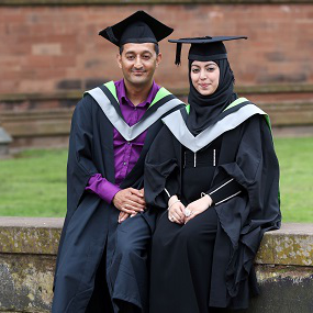Two students at their graduation